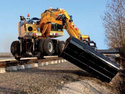 Rail-Road Construction Backhoe
